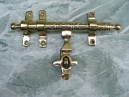 Accessoires cuivre dor verrou marocain en cuivre jaune for Accessoire salle de bain dore