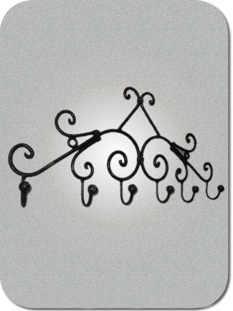 Fer forg marocain porte manteau en fer forg - Porte manteau mural fer forge ...