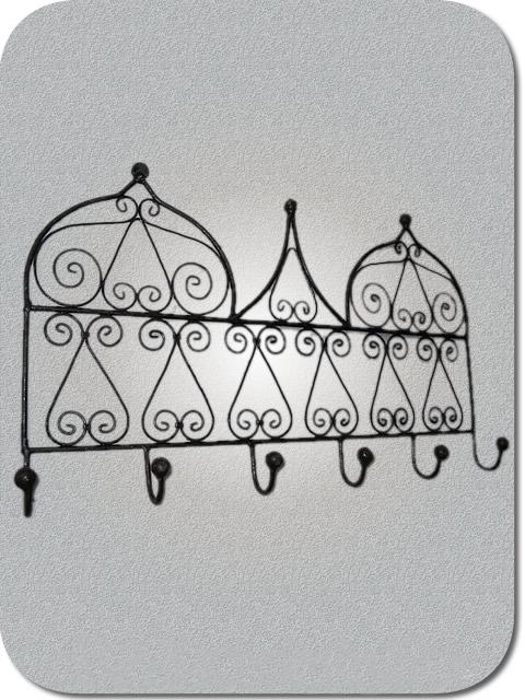 Fer forg marocain porte manteau oriental en fer forg for Porte manteau fer forge mural