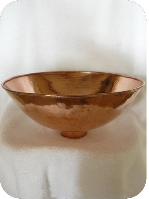 Vasque En Cuivre vasque cuivre rouge: lave-mains rond à poser en cuivre rouge 30 cm