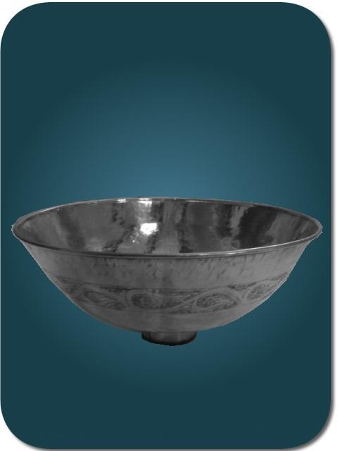 vasque maillechort argent e vasque ronde grav e poser en maillechort 35 cm. Black Bedroom Furniture Sets. Home Design Ideas