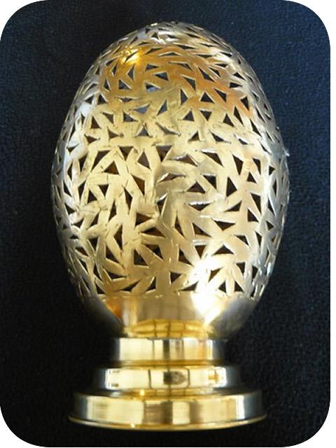 Luminaires Marocains Lampe Marocaine En Cuivre Jaune Cisele 24 Cm