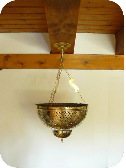 luminaires marocains lustre suspension marocain en cuivre jaune riad 40 cm. Black Bedroom Furniture Sets. Home Design Ideas