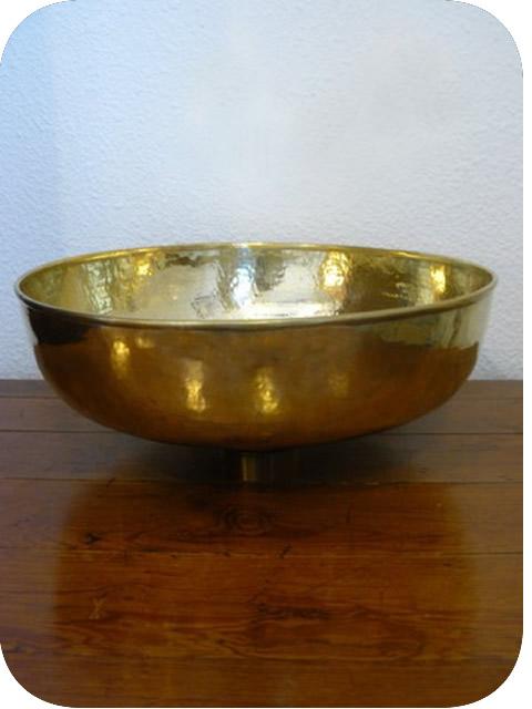 Vasque En Cuivre vasque cuivre doré posée: vasque ronde à poser en cuivre jaune
